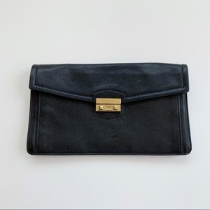 Cole Haan Black Leather Clutch Bag